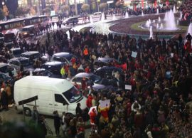 Protesta antiqeveritare në të gjithëvendin, bllok