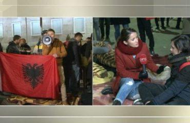 Studentët vijojnë protestën të vendosur, me zjarre dhe batanije qëndrojnë tek Kryeministria dhe Ministria e Arsimit