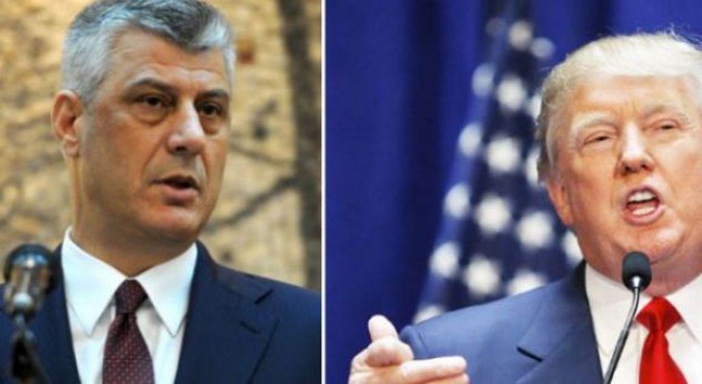 Presidenti Trump letër Thaçit: Të gatshëm t'ju ndihmojmë për një marrëveshje me Serbinë