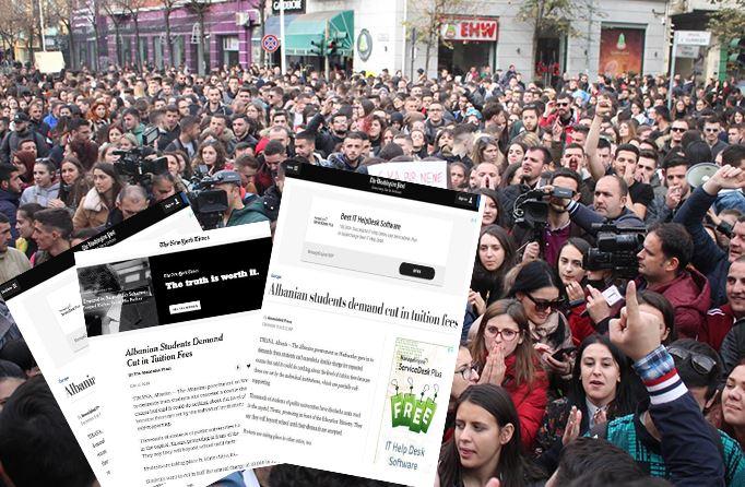 Protesta e studentëve që zmbrapsi qeverinë, jehonë edhe në mediat prestigjoze botërore