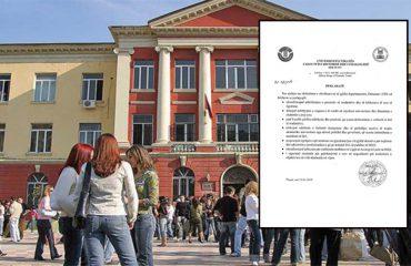 Dekanati i Filologjikut pro studentëve të ngujuar, dënon ndërhyrjen e policisë (deklarata)