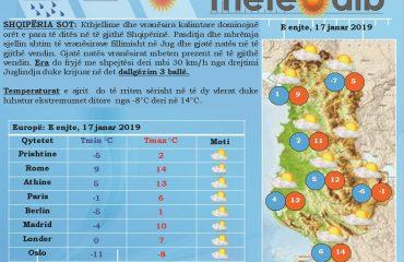 Mot i kthjellët me rritje të lehtë temperaturash, vranësirat mbërrijnë sërish pasdite