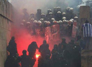 Marrëveshja e Prespës për Maqedoninë, përleshje të dhunshme sot në Athinë (Foto)