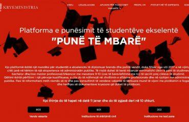 """Platforma e qeverisë """"Rama"""" për më të mirët, aplikojnë 100 të diplomuarit e parë"""