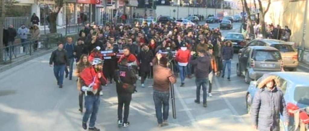 Students in Albania continue their protest