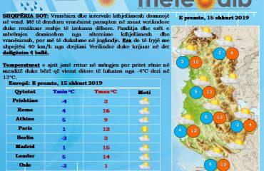 Mot i kthjellët por i ftohtë: Temperaturat rriten lehtë në mëngjes, por ulen në mesditë