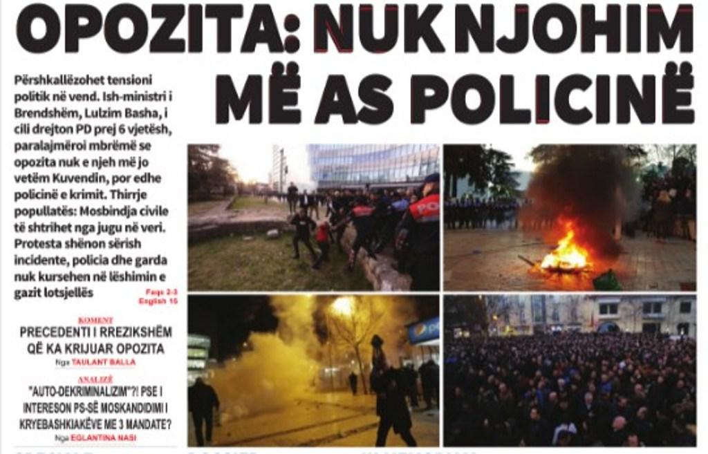 """Lexoni sot, e Mërkurë, 27 Shkurt 2019 në gazetën """"Albanian Free Press"""""""