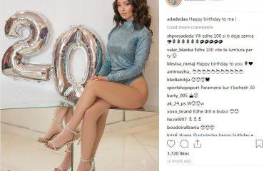 """""""Godet"""" fansat vajza e ish-deputetes demokrate, poston foton me shalët jashtë për 20-vjetor"""