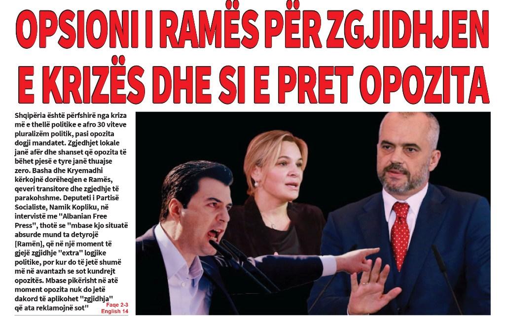 """Lexoni sot, e Mërkurë 13 Mars 2019 në gazetën """"Albanian Free Press"""""""