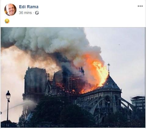 E gjithë bota me sytë nga Parisi, reagon edhe Rama