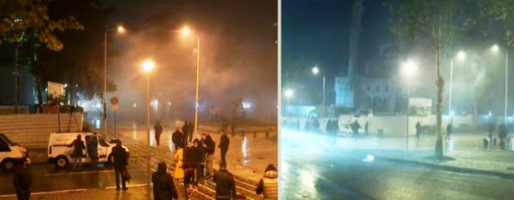 Tensioni tek Parlamenti, policia përdor gaz lotsjellës