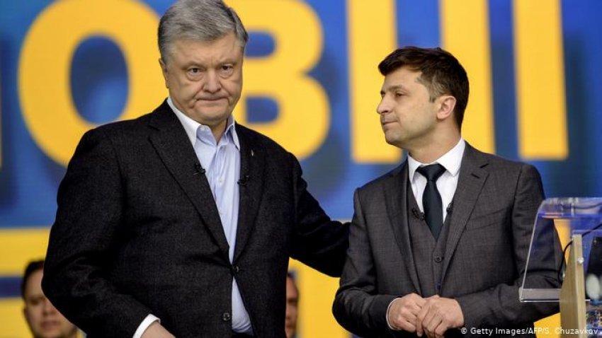 Zgjedhjet në Ukrain, Petro Poroshenko përballë Volodymyr Selenskyj