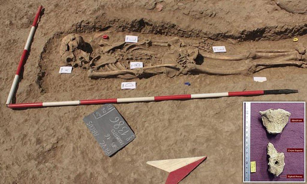 """Greqi/Zbulohet skeleti i luftëtarit """"muskuloz"""", i vrarë me shtizë 2,000 vjet më parë"""