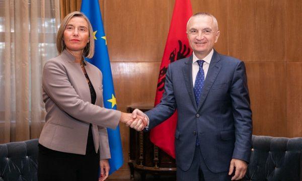 Presidenti Meta takon Mogherinin: Integrimi europian është e vetmja rrugë përpara