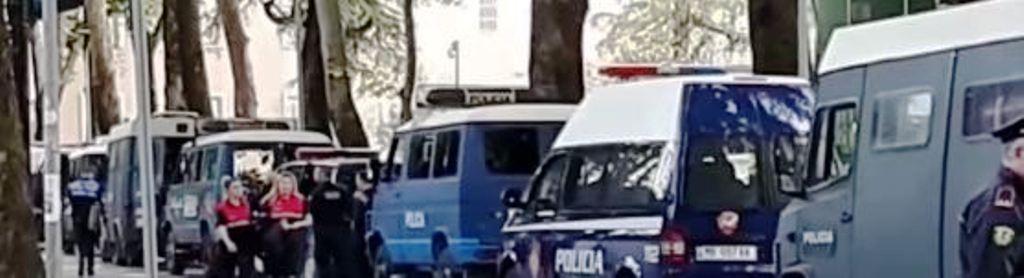Protesta, policia masa të forta sigurie