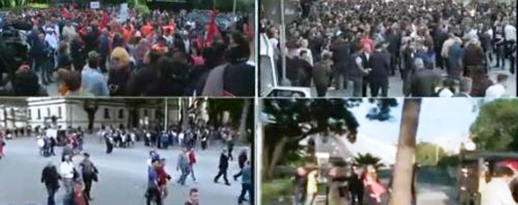 Nis protesta e opozitës, qytetarët grumbullohen tek Kryeministria