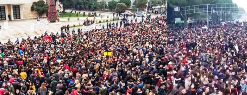 Opozita: Mijëra qytetarë dibranë në protestën e sotme para kryeministrisë
