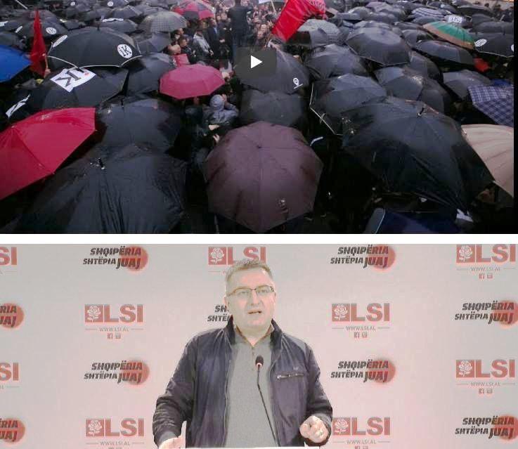 Marshimi-protestë i opozitës, nënkryetari i LSI-së, Luan Rama: Nuk ka forcë që i ndal shqiptarët