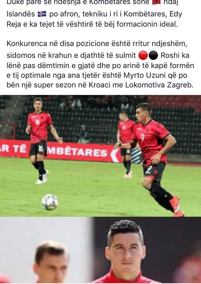 """A po rikthehet me """"shqetësim"""" Odise Roshi, vendin në Kombëtare ia ka zënë Uzuni?"""