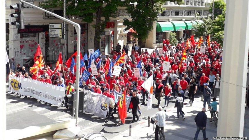 Shkup, sindikatat protestojnë për gjendjen ekonomike