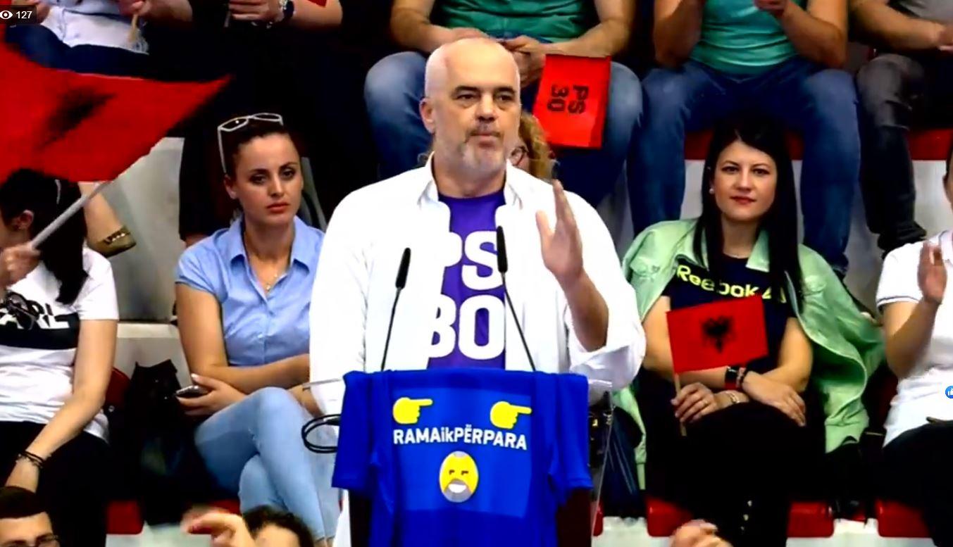 Opozita proteston, Rama fushatë elektorale nga Lezha