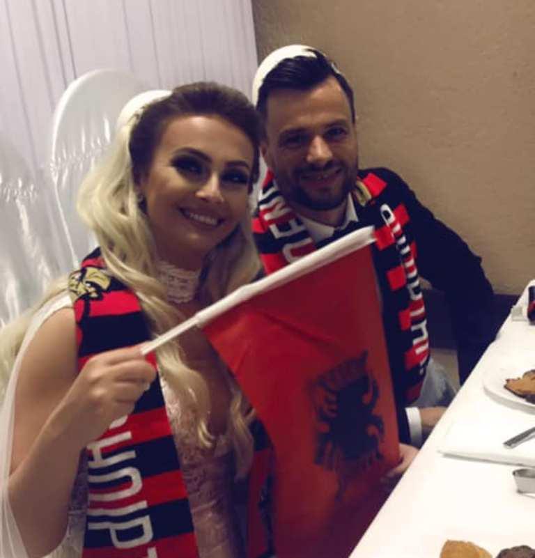 """O sa mir me qen' shqiptar"", futbollisti i Kombëtares martohet me bukuroshen rumune (Foto)"