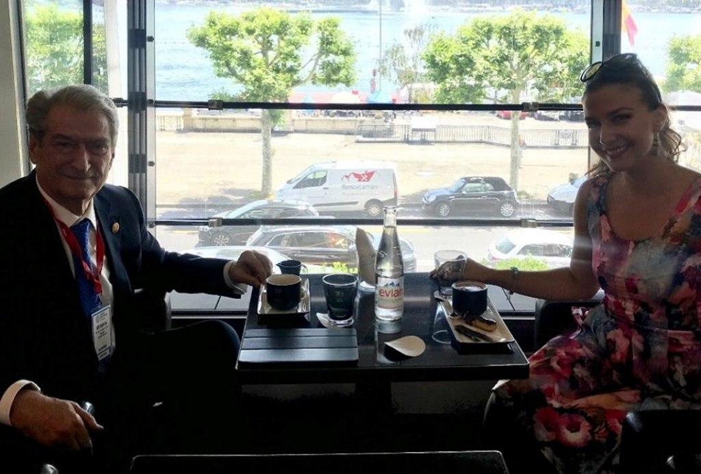 """Një kafe në Gjenevë me """"Miss World Albania"""". Marrin fund aludimet mbi vendndodhjen e Berishës"""