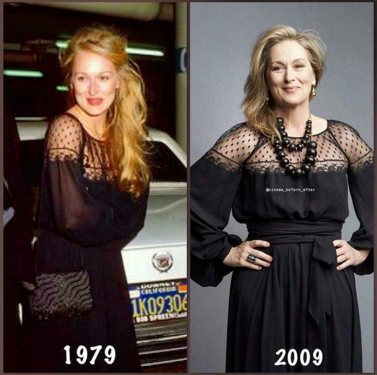 """""""Moda"""" e Meryl Streep, del me të njëjtin fustan si 40 vite më parë"""