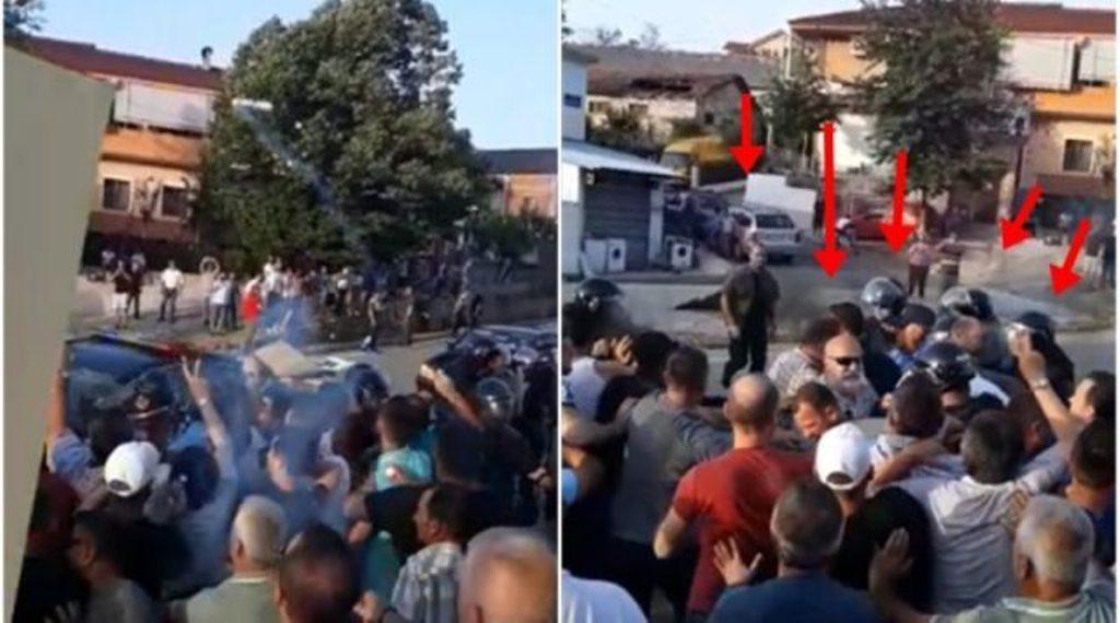Librazhd/Bllokuan eskortën e Ramës, arrestohen 7 protestues, mes tyre kreu i PD-së dhe një ish-deputet