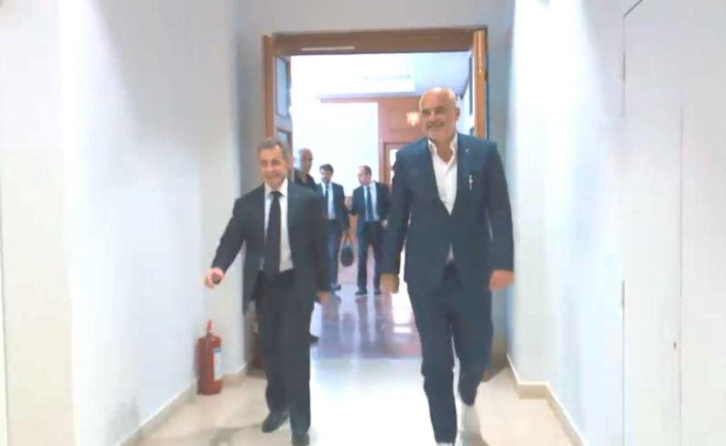 Kur e priti Rama në Kryeministri ish-presidentin francez, Sarkozi