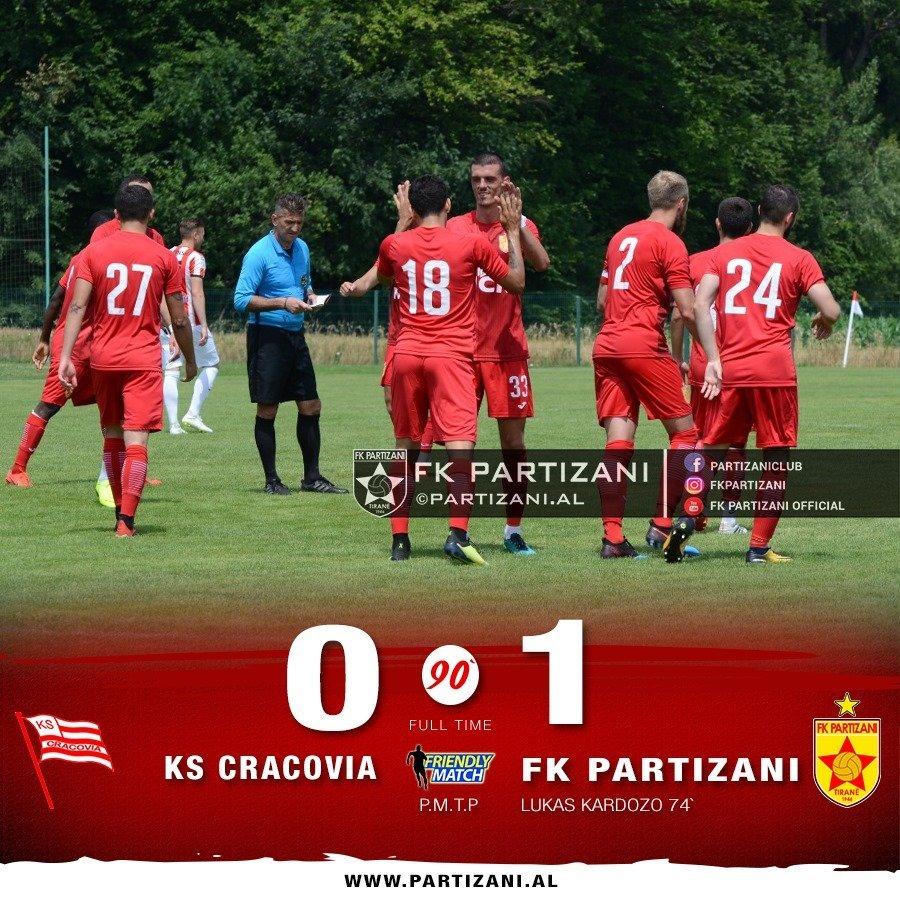 Cardoso vendimtar për fitoren e Partizanit ndaj polakëve të Krakovias