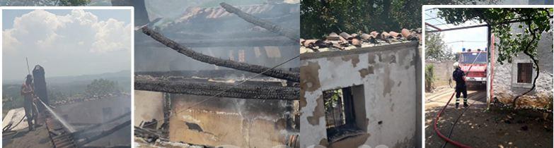 Shkëndija elektrike djeg dy banesa në Mirditë