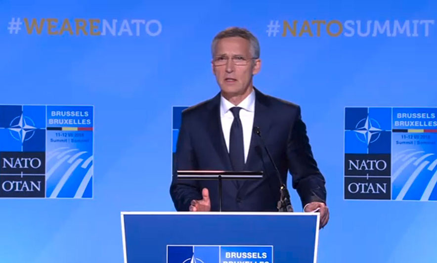 NATO's chief Stoltenberg expresses his regret about the creation of the Army of Kosovo without NATO's consent
