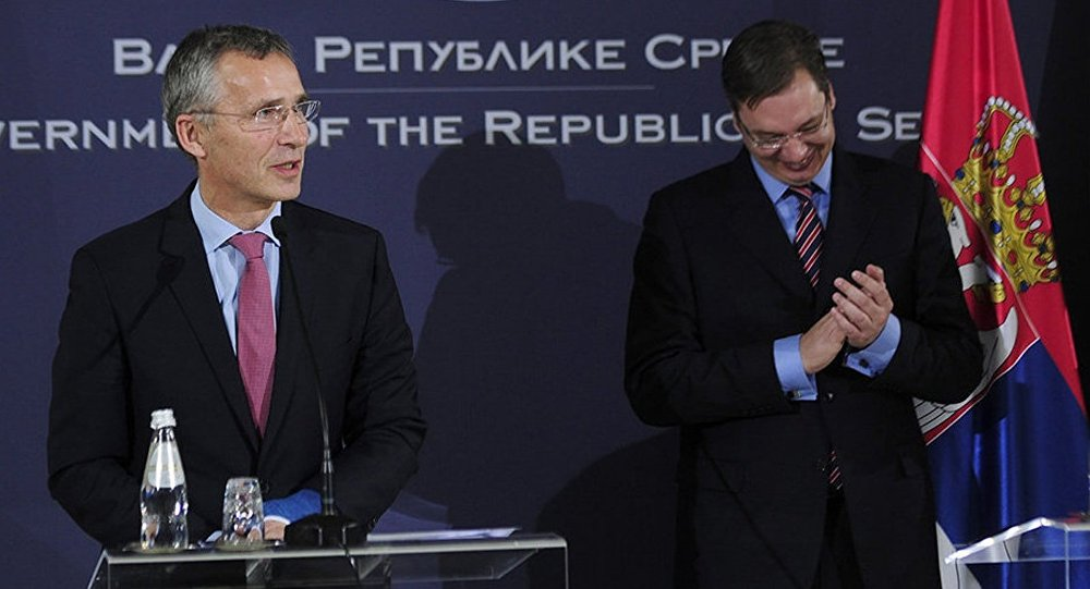 NATO's chief Stoltenberg says that the 1999 bombardments were not aimed at the Serbian people